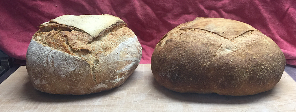two rustic loaves of bread
